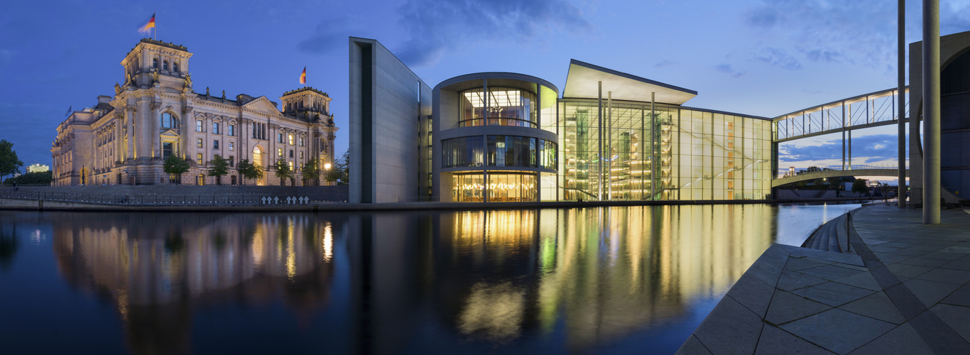 Reichstag und Paul-Löbe-Haus