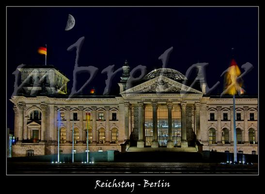Reichstag with Moonshine - Berlin III