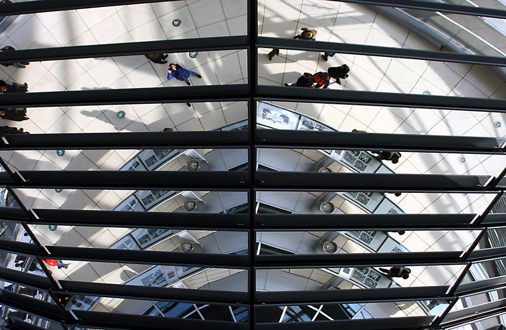 Reichstagskuppel Berlin, Innenleben