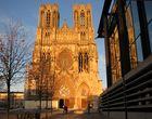 Reims : Cathédrale et son reflet dans la médiathèque