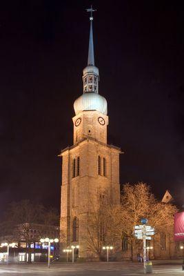 Reinoldikirche in Dortmund bei Nacht