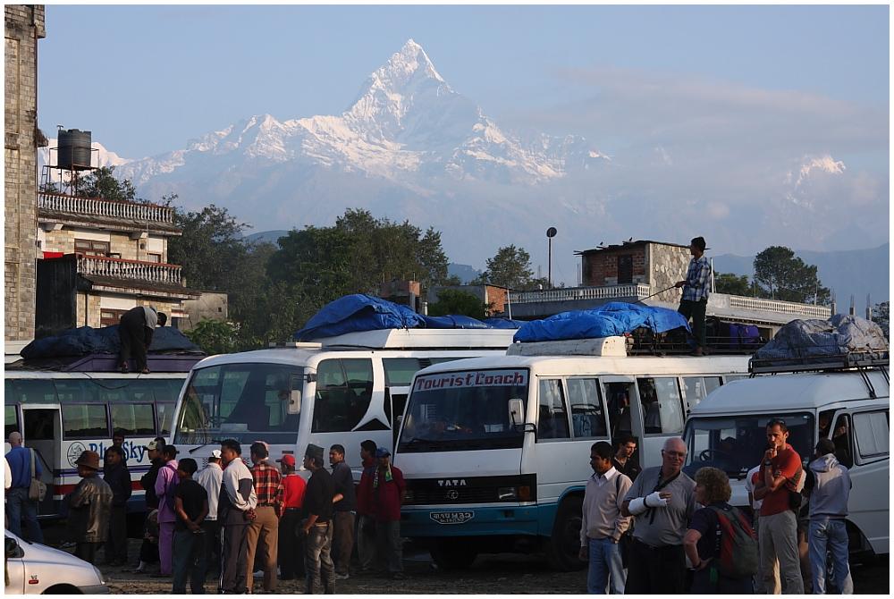 """Reisen - Der """"Busbahnhof"""" in Pokhara"""
