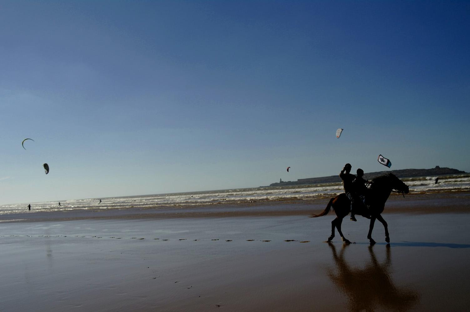 Reiten am Meer Marokko