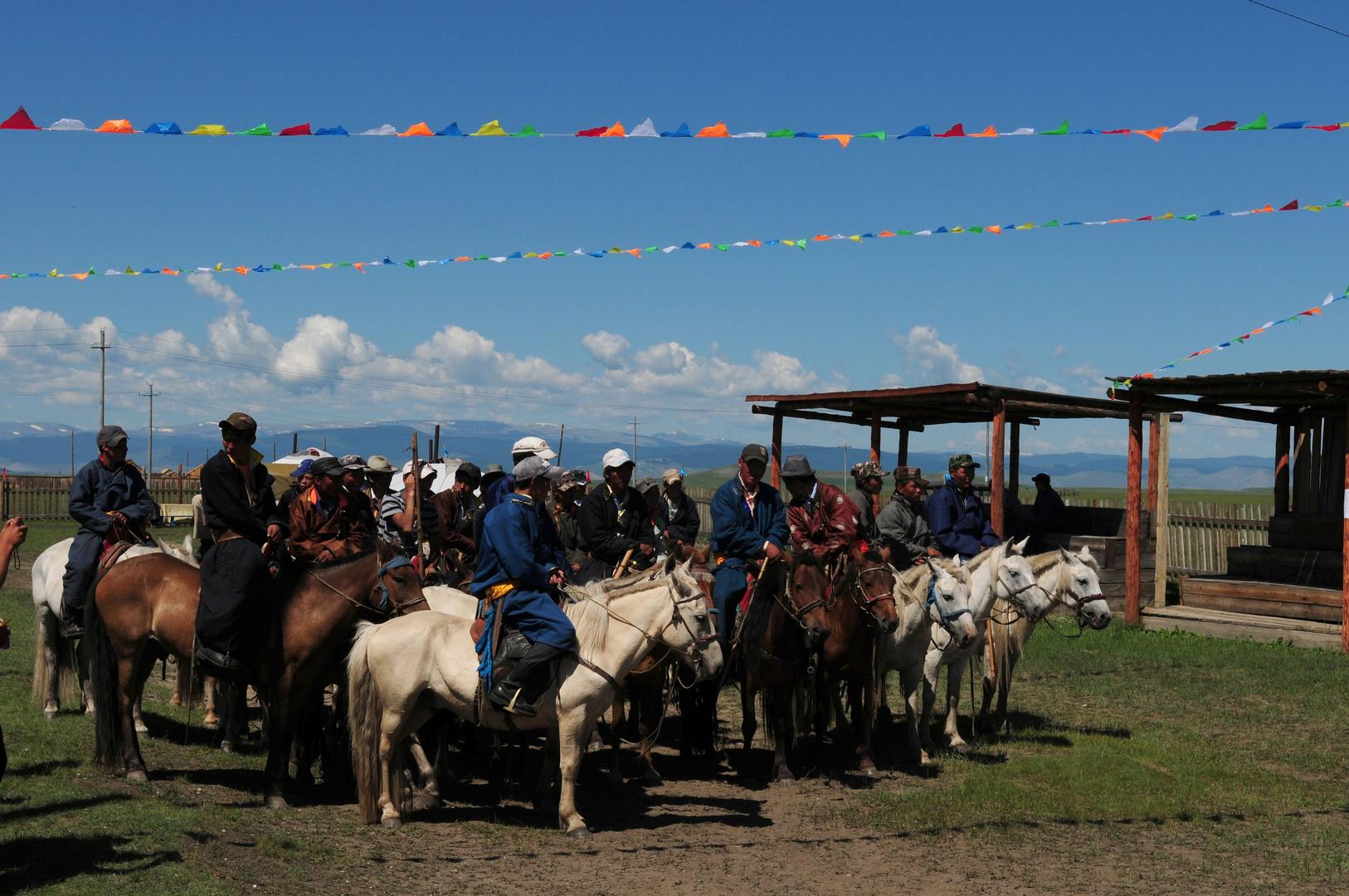 Reiter beim Naadam-Fest
