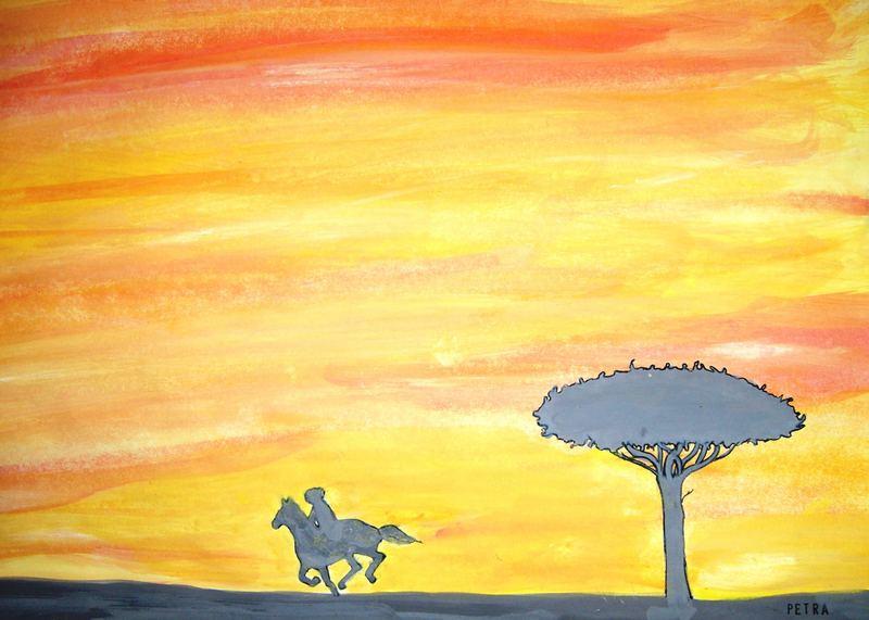 Reiter in der Savanne...