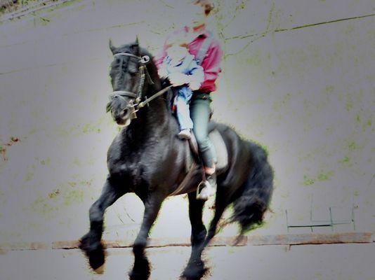 Reiter mit Kind