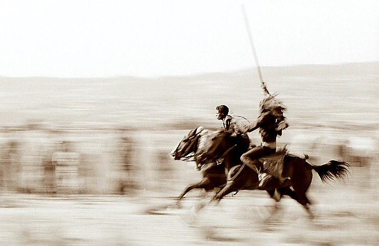 Reiterkampf in Äthiopien