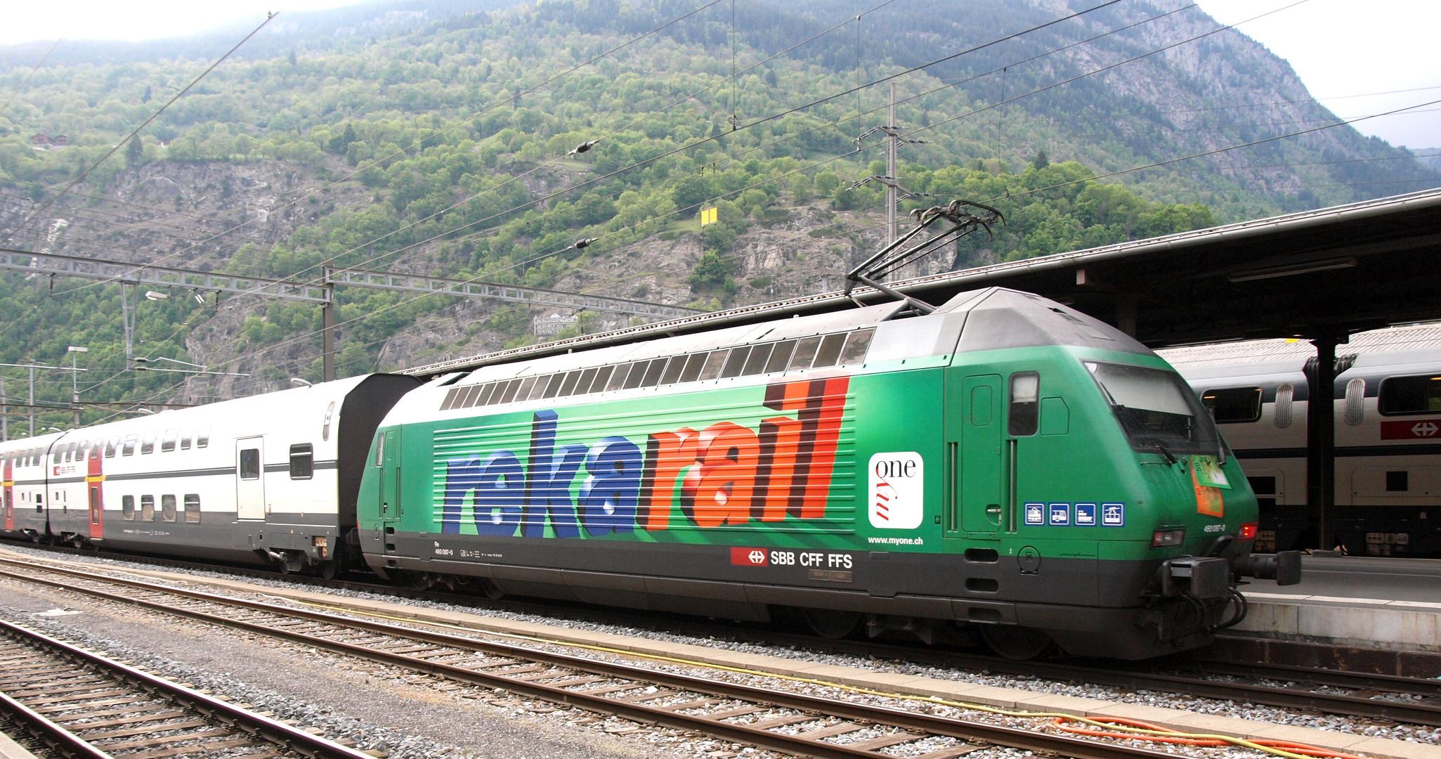 Reka Rail à Brigue