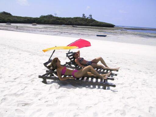 Relaxen am Strand von Kenya