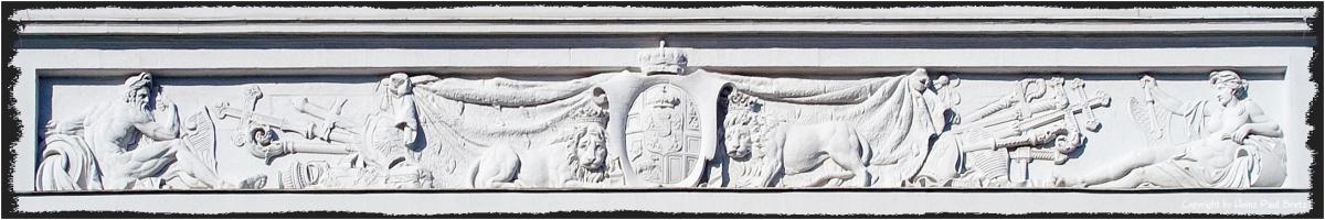 Relief am Schloss