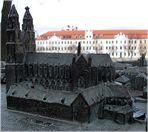Relief auf dem Magdeburger Domplatz