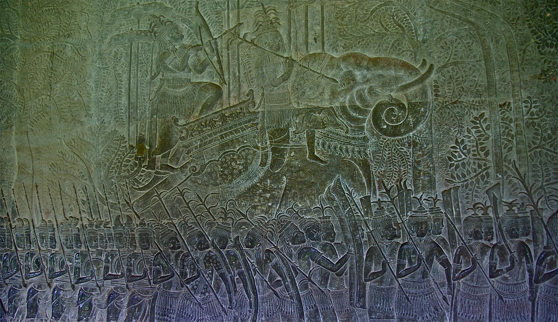 relief von den khmer, ihren königen und den göttern