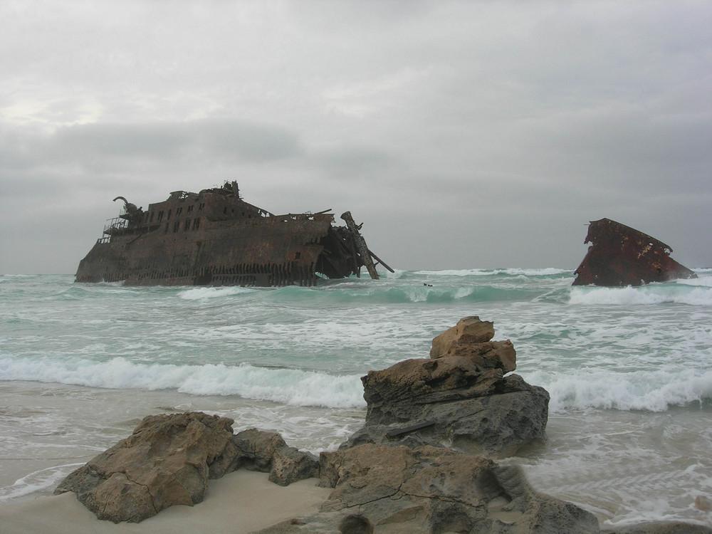 Relitto sulla costa atlantica di BoaVista