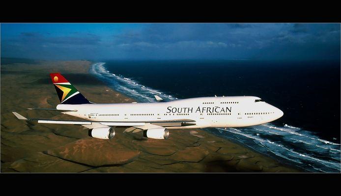 Reload ~ 747-400 Ibayi ueber den Sanddünen von Port Elizabeth