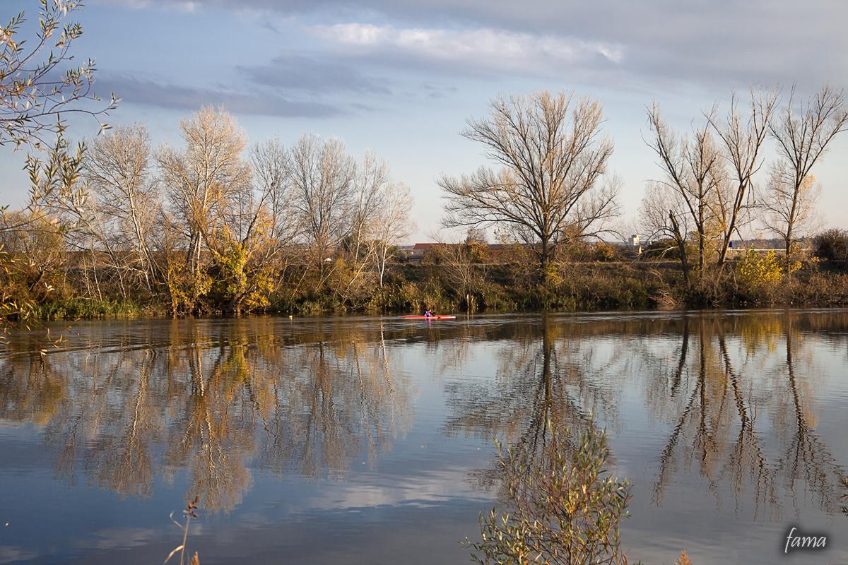 Remando rio abajo