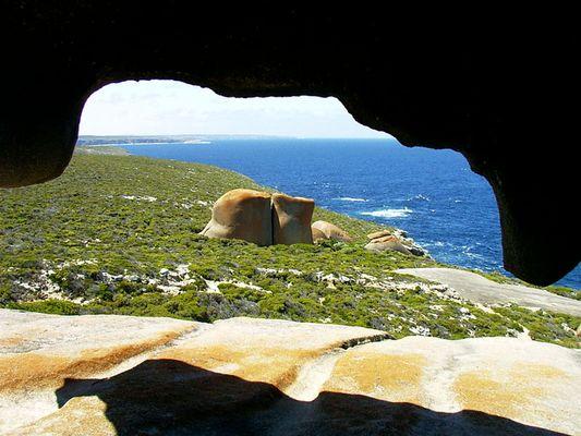 Remarkable rocks - outlook from inside