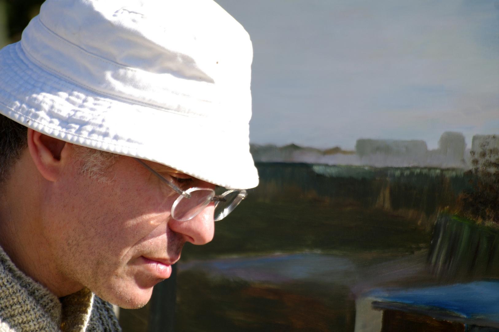 rencontre d un peintre sur mon lieu de photo