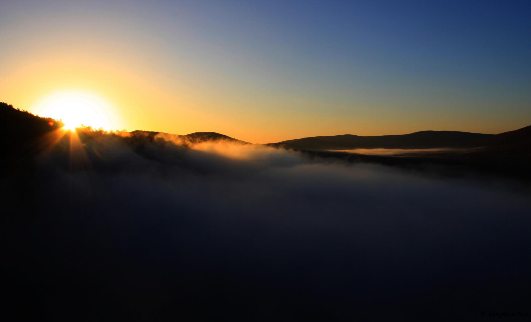 Rencontre ... entre brume et soleil!!!