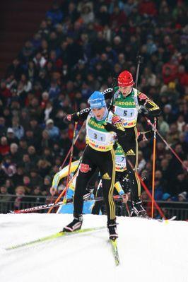 Rennszene beim WTC Biathlon auf Schalke 2008