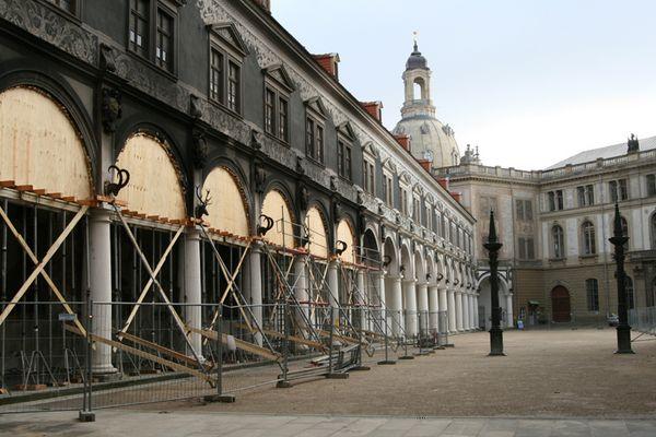 Renovierung Schlosshof in Dresden