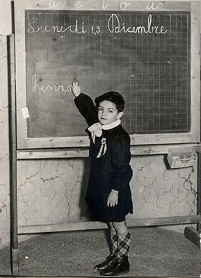 Renzino in 1^ Elementare - 1954