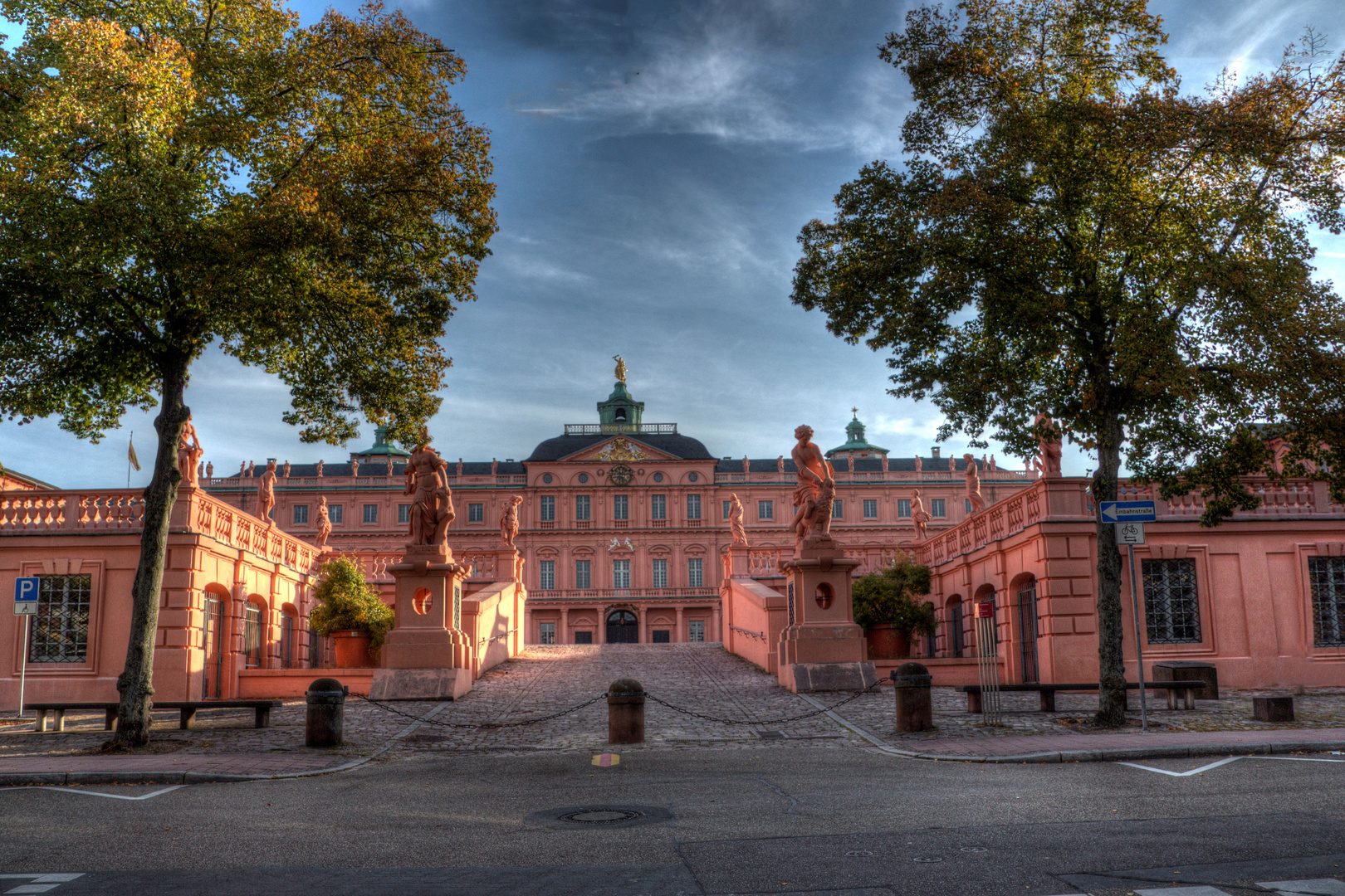 Residenzschloss Rastatt in HDR