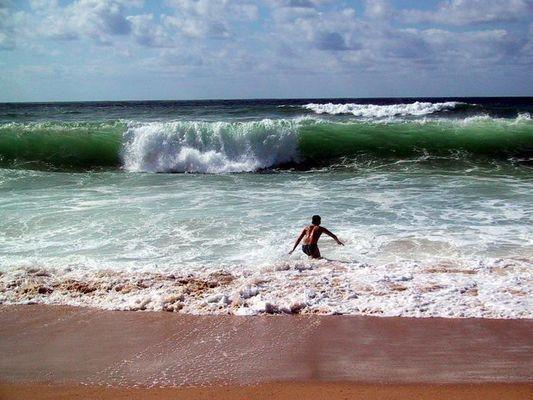 Respekt vor der Welle