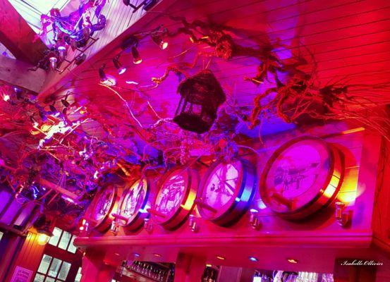 Restaurant ambiance rose