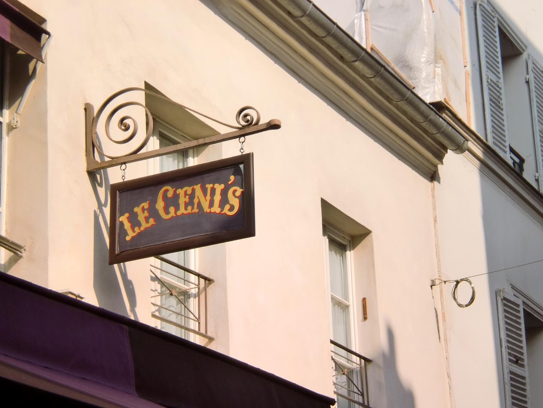 Restaurant auf Montmartre