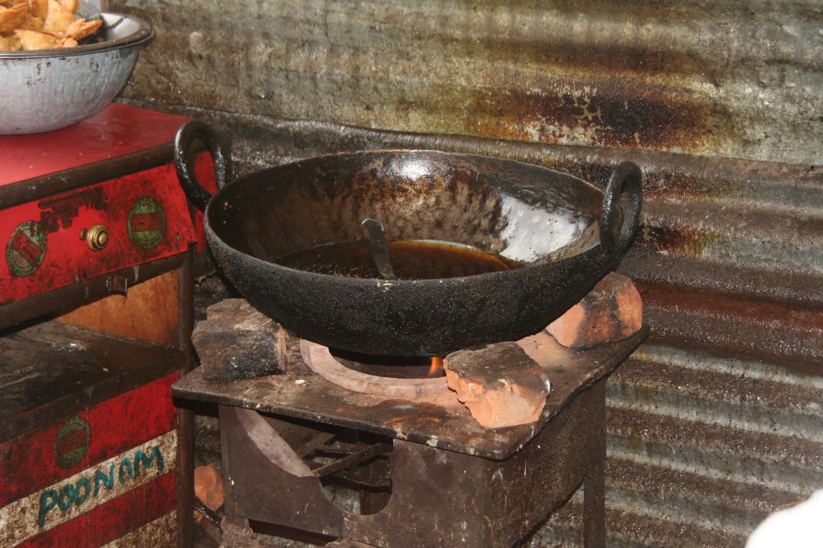 Restaurantküche im Himalaya