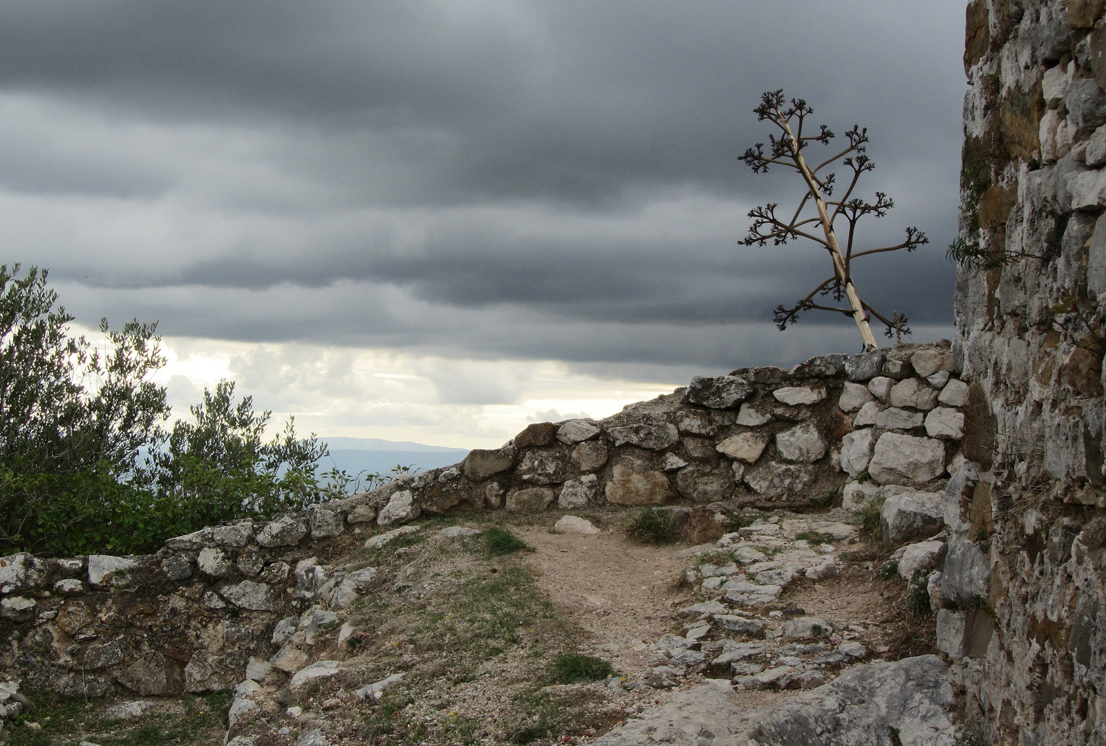 Reste der Alcázar hoch über Casares