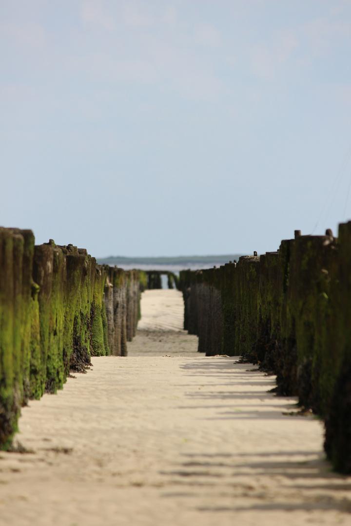 Reste vom alten Osthafen auf der Insel Wangerooge