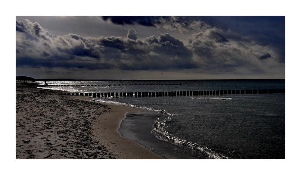 Restlicht am Strand