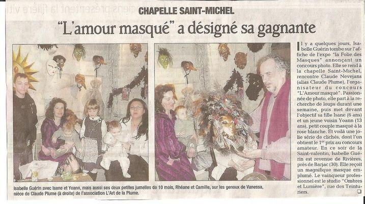 Résultats du concours photo l'amour masqué en Avignon