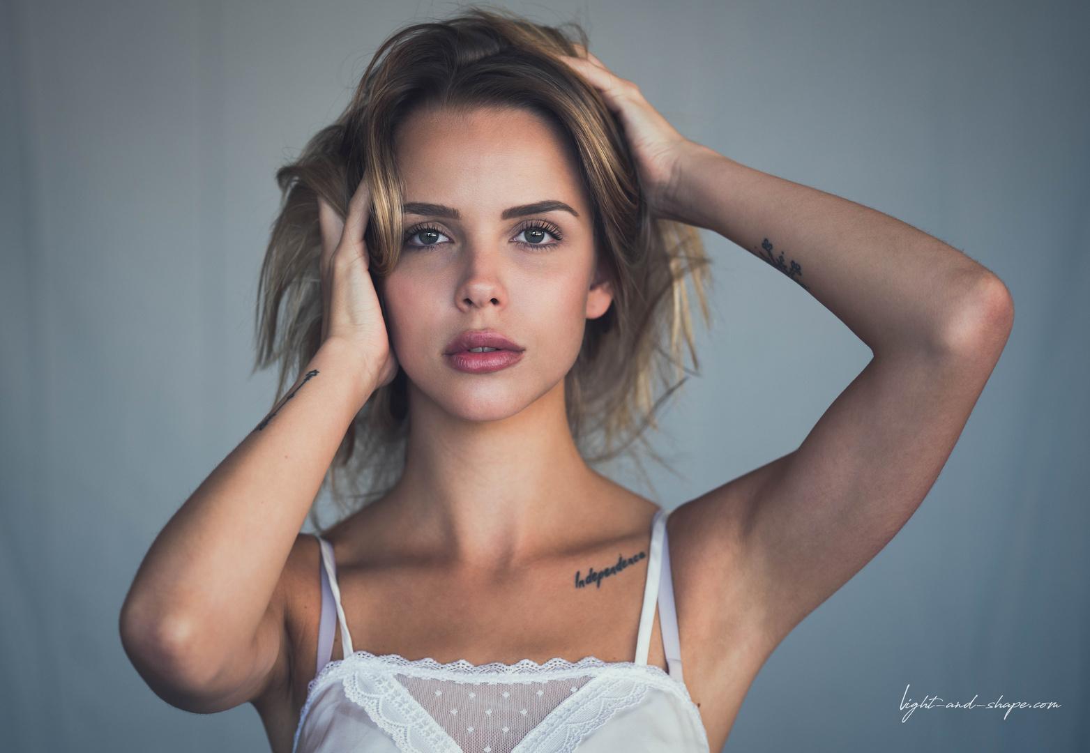 Retouched beauty portrait