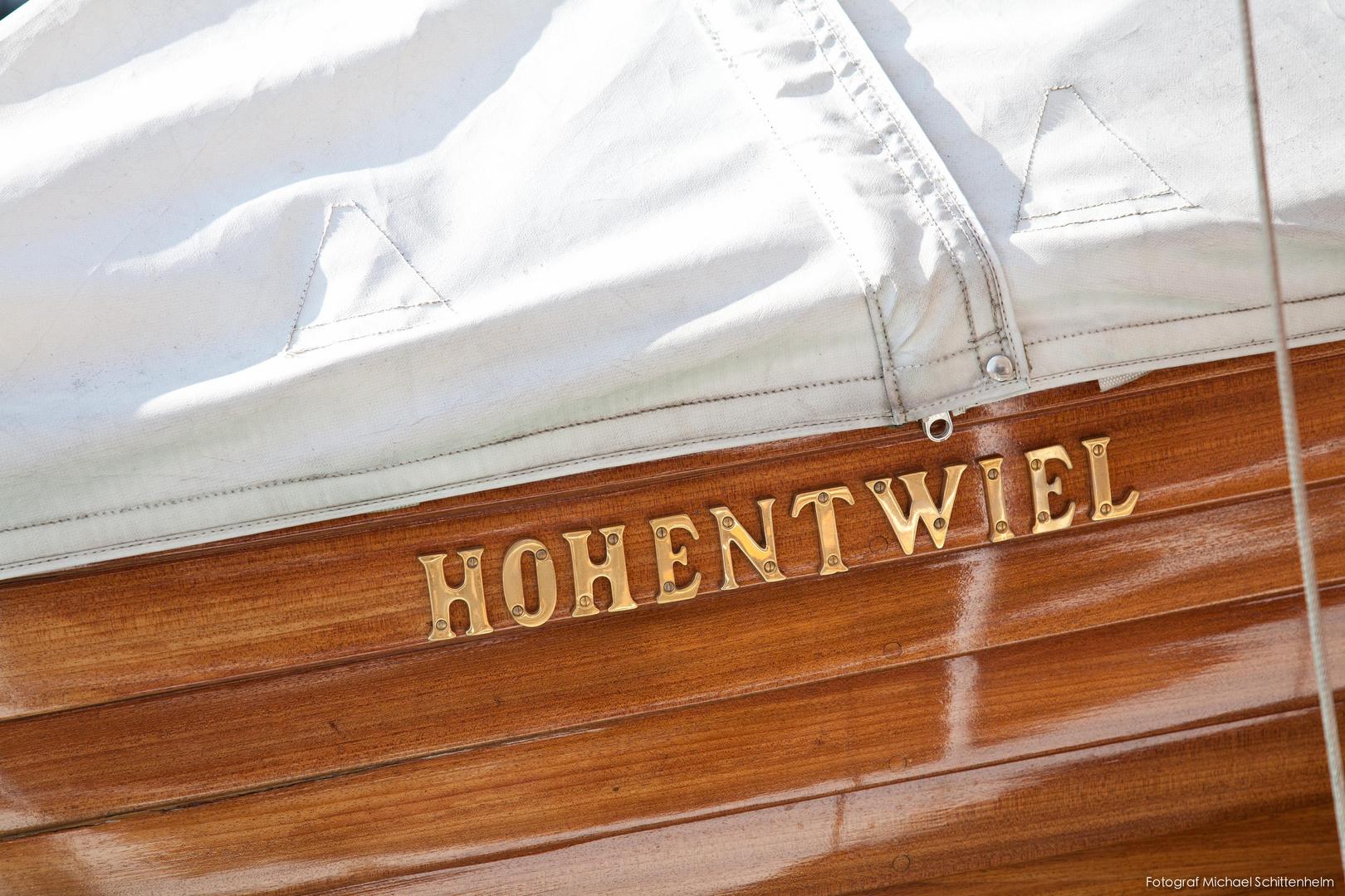 Rettungsboot, Hohentwiel   Das königliche Dampfschiff. Seit 1913.   Bodensee