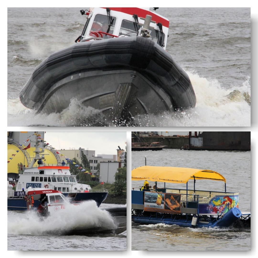 Rettungsboote auf dem Hamburgerhafengeburtstag 825