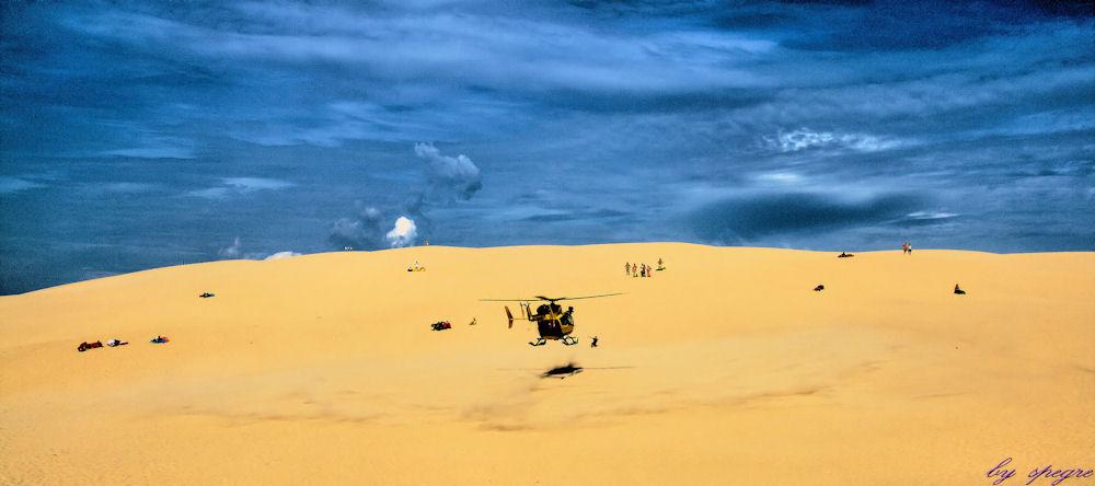 Rettungseinsatz in Dune du Pyla - Landung