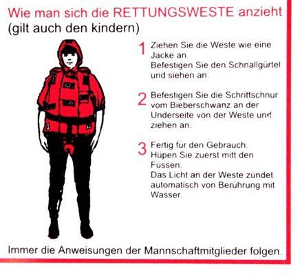 Rettungsweste anzeihen... ganz einfach!