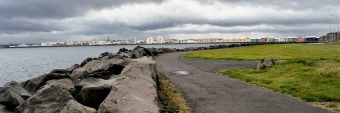 Reykjavik aus der Ferne