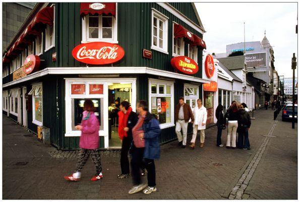 Reykjavík Fußgängerzone...