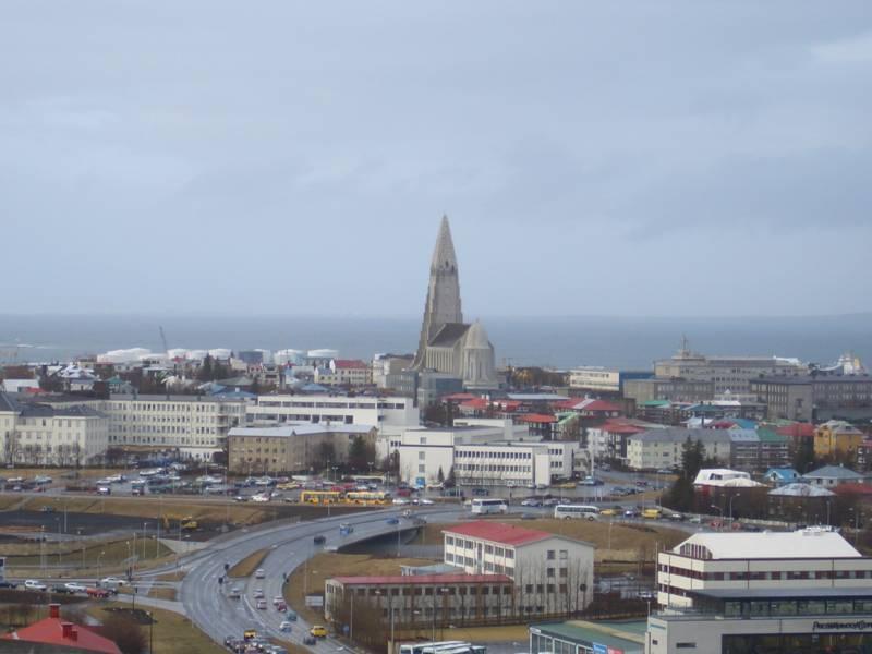 Reykjavik mit Hallgrimskirkja