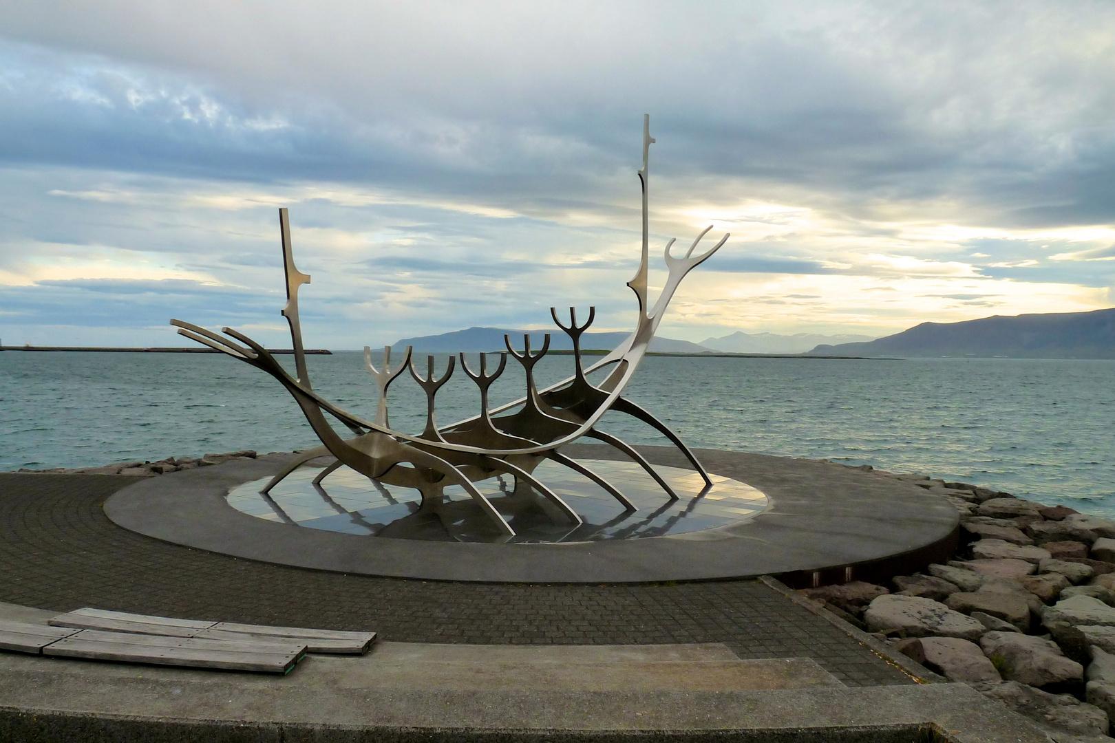 Reykjavik Sculpture Solfar Viking Ship