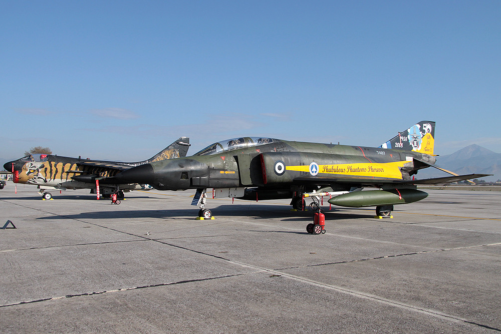 RF-4E Phantom II Greece Air Force 7487 + Tiger A-7
