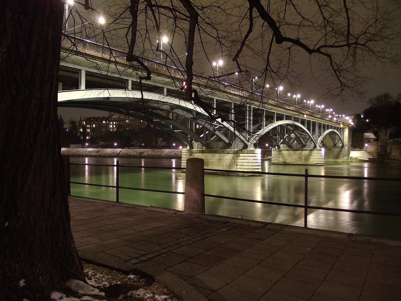Rhein Basel by Night