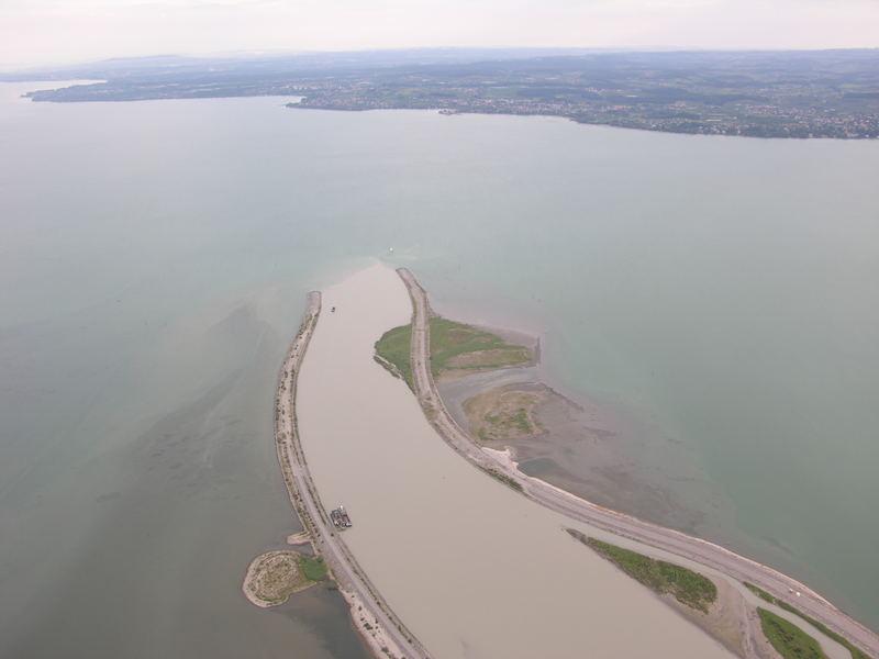 Rhein beim eintritt in den Bodensee