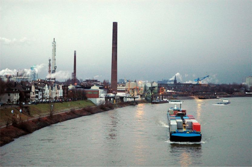 Rhein-Dämmerung Duisburg
