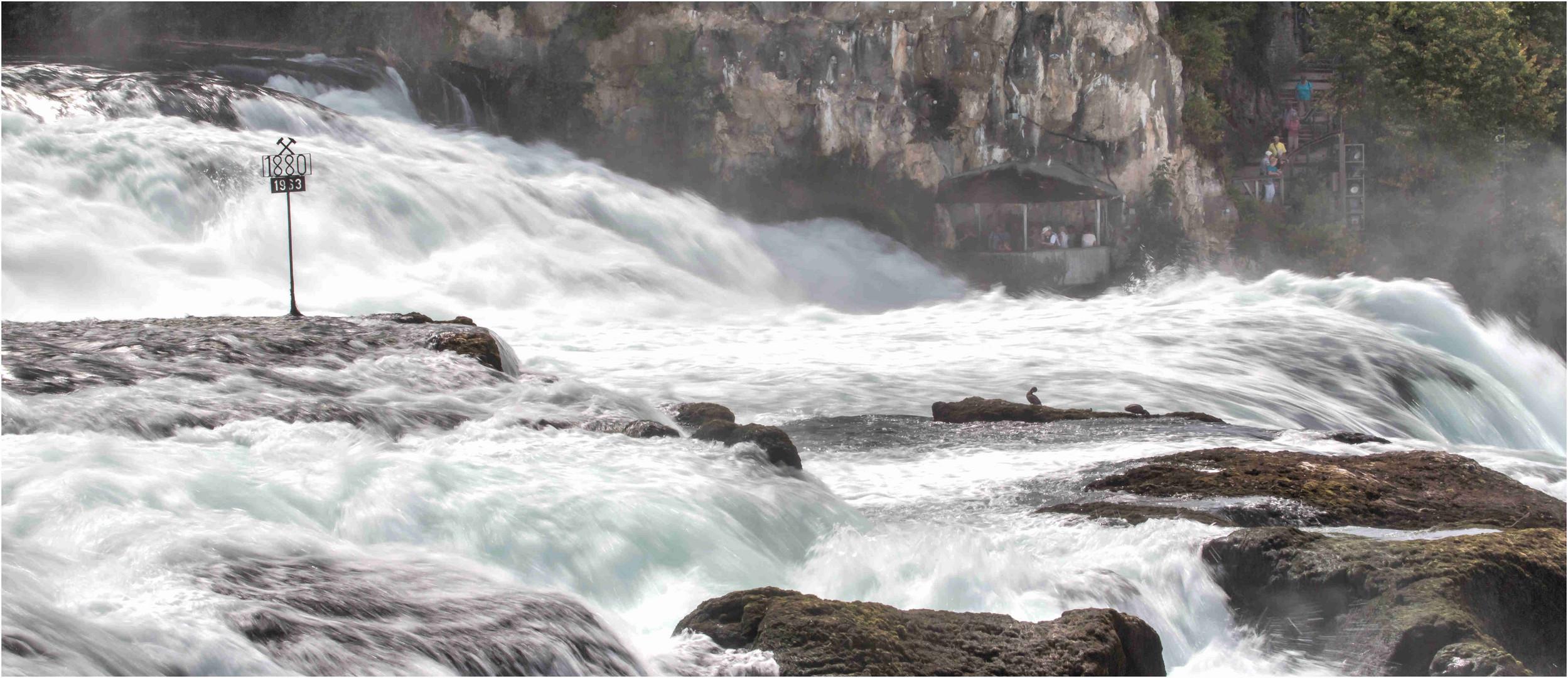 Rheinfall 06 ...1880 .... die fließende Welle