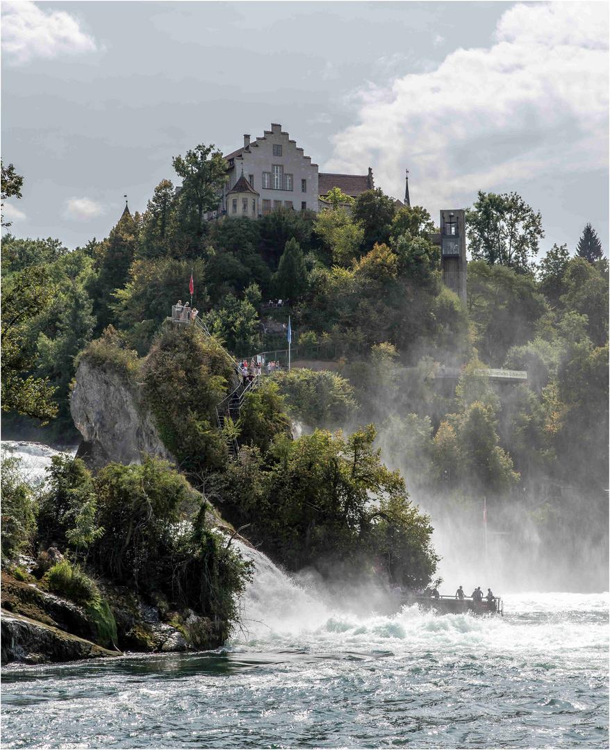 Rheinfall 08 Die Felsen und das Schloß