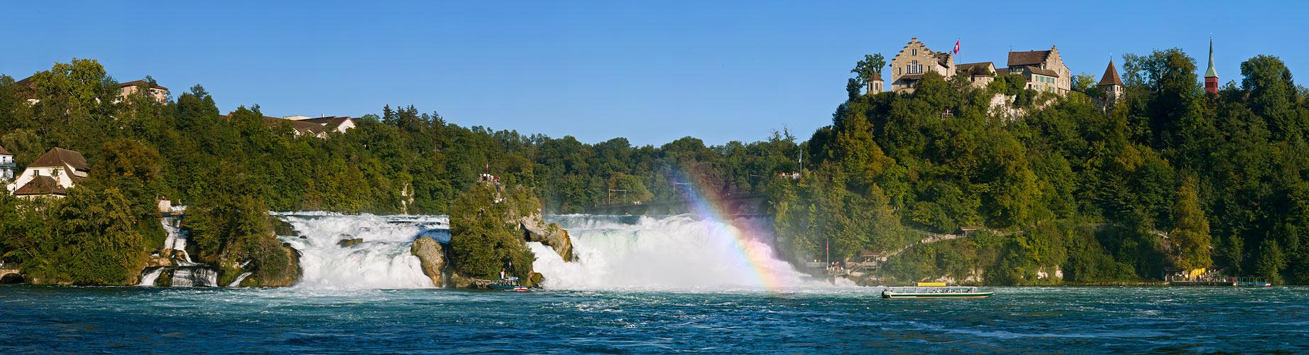 Rheinfall mit Regenbogen